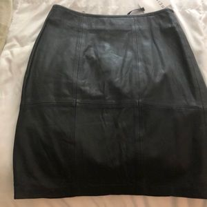 Tags on Reiss leather pencil skirt